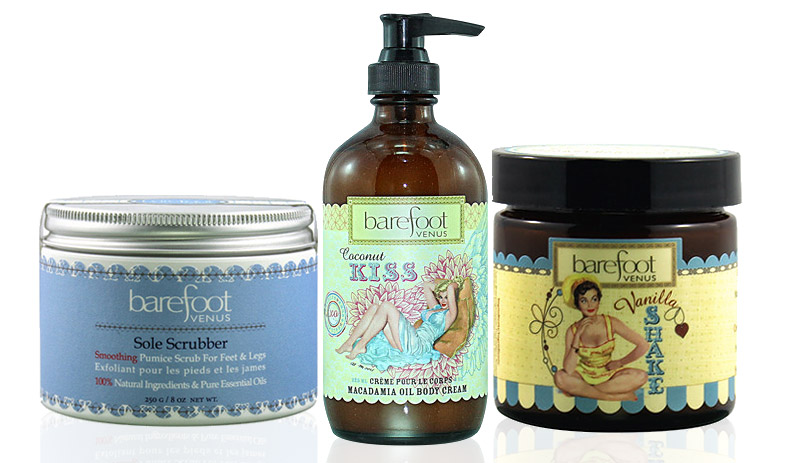 barefoot venus feet sole scrub and moisturizer