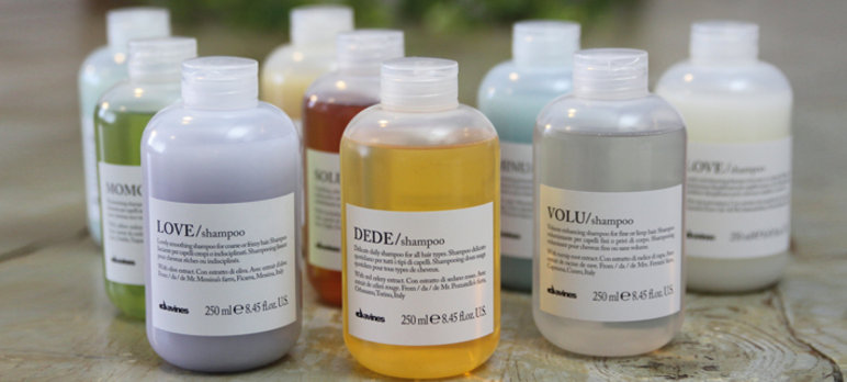 Davines natural hair products shampoo conditioner