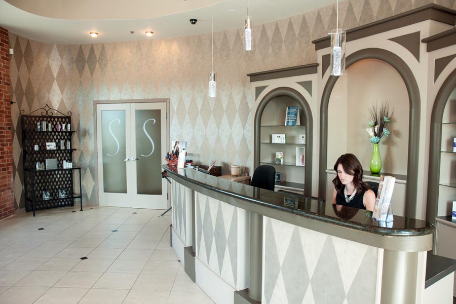 spa and salon reception desk