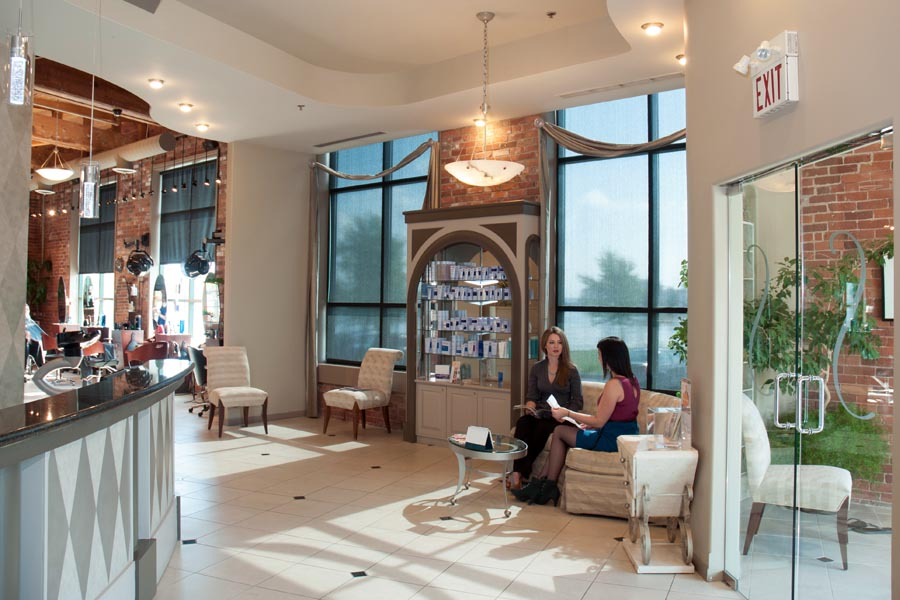 spa front reception waiting area